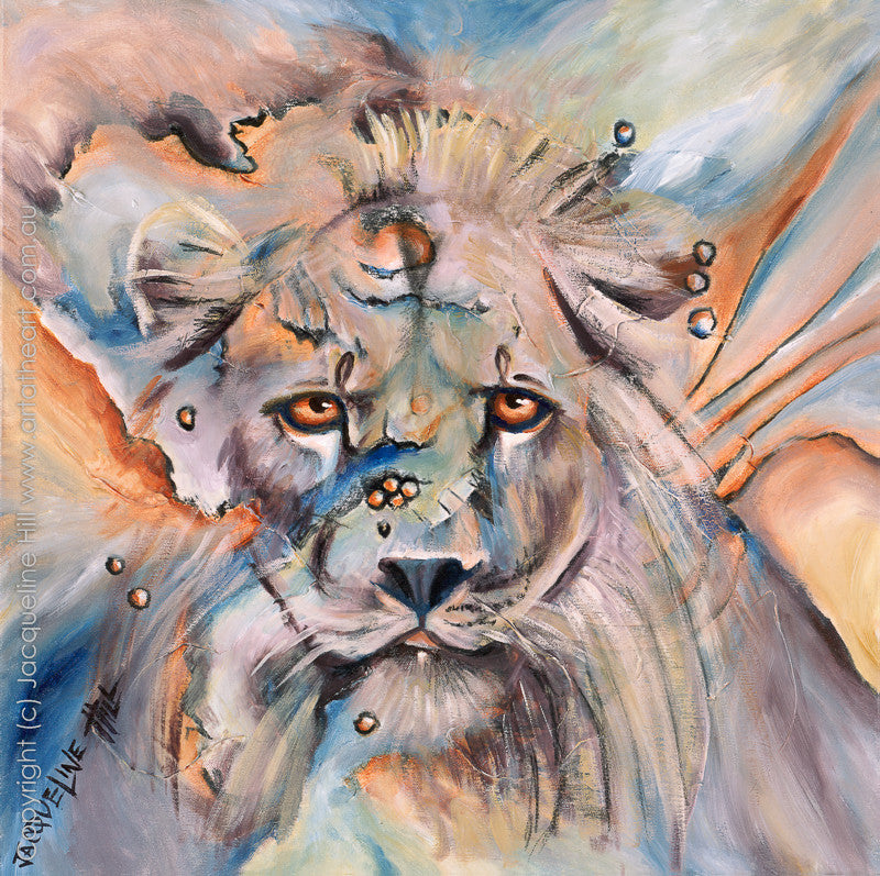 """Lion"" by Jacqueline Hill, Limited Edition Fine Art Reproduction"