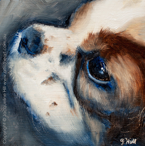 "DPE014 ""Tehla (Tiggles)"" Original Oil on Panel Painting by Jacqueline Hill"