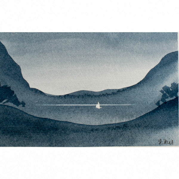"""Your Moment of Zen XI"" Zen Series Original miniature watercolour painting by Jacqueline Hill [ZEN011]"