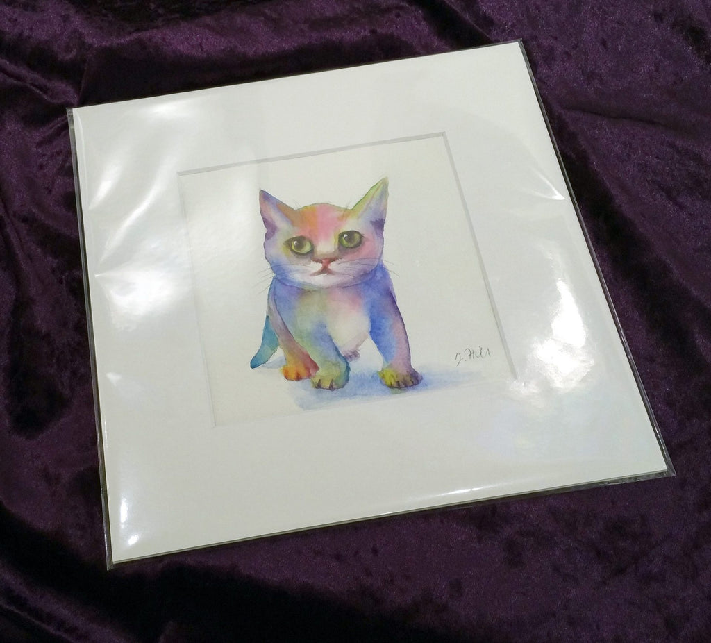 "Mat mount & crystal clear wrap of 150mm sq (6"") artwork"