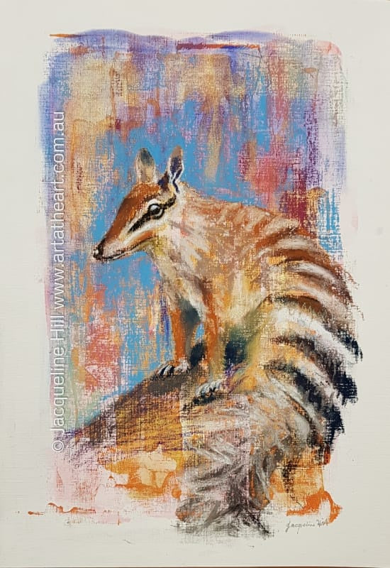 "DA244 ""Numbat"" Original Mixed Media (acrylic and pastel) Painting by Jacqueline Hill"