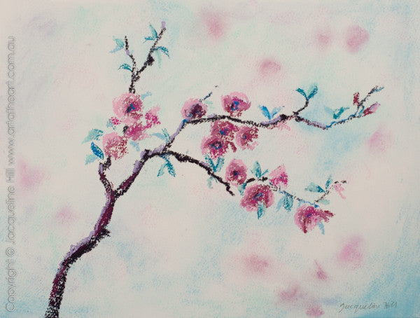 """Cherry Blossom II"" Original Pastel by Jacqueline Hill [OR322]"