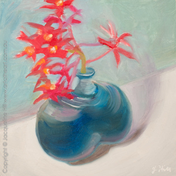 "DP240 ""WIld Orchids"" Original Oil on Panel Painting by Jacqueline Hill"