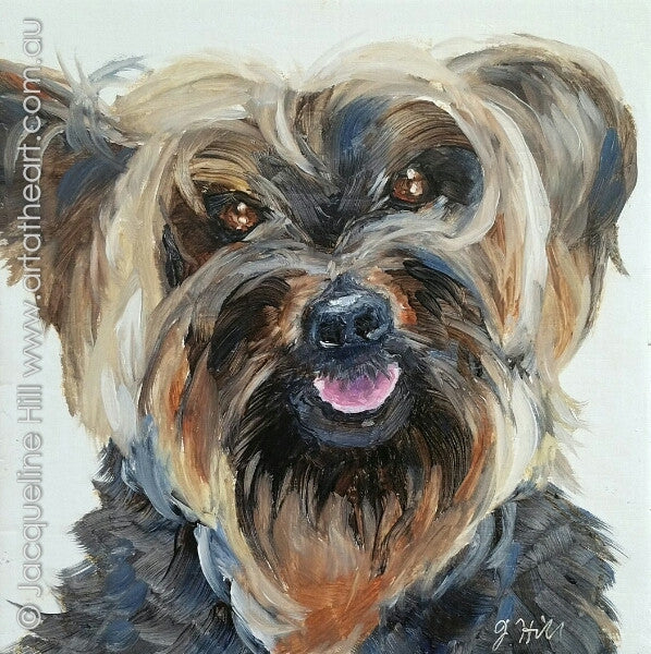 "DPE009 ""Buddy III"" Original Oil on Panel Painting by Jacqueline Hill"