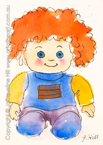 """Carrot Top"" Original Ink and Watercolour Painting by Jacqueline Hill [OR079]"