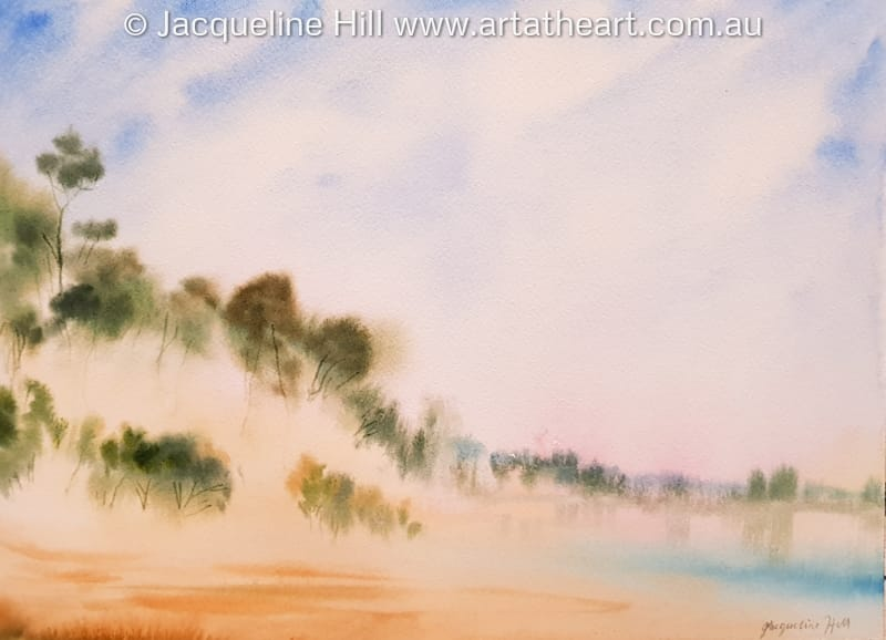 "DA348 ""Wind-swept Dune, Fraser Island"" Original Watercolour Painting by Jacqueline Hill"
