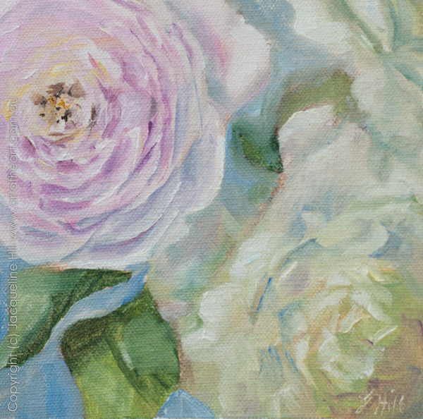 "DP003 ""Promise fulfilled"" Original Oil on Canvas Panel Painting by Jacqueline Hill"