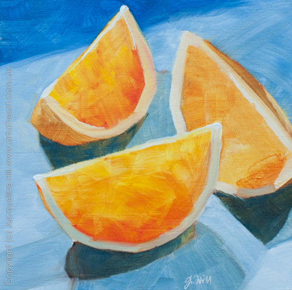 "DP007 ""Summer Citrus"" Original Oil on Panel Painting by Jacqueline Hill"