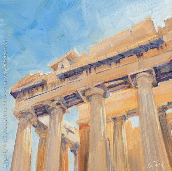 "DP013 ""Parthenon"" Original Oil on Panel Painting by Jacqueline Hill"