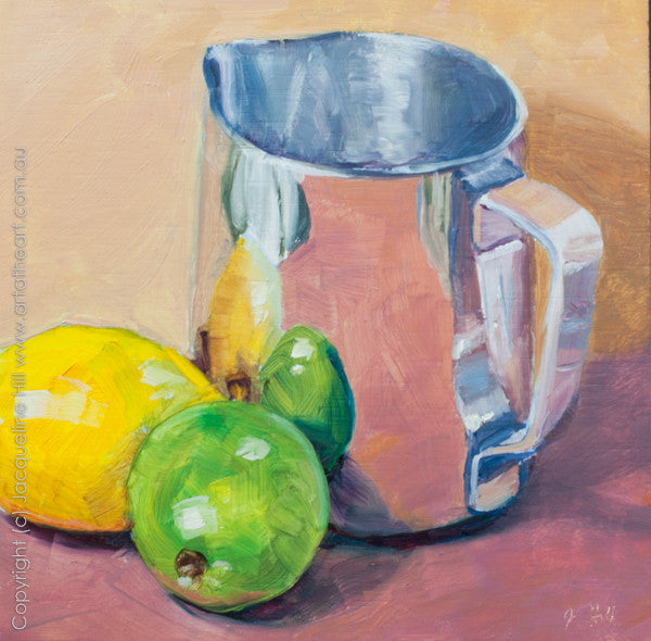 "DP015 ""Jug and Friends"" Original Oil on Panel Painting by Jacqueline Hill"