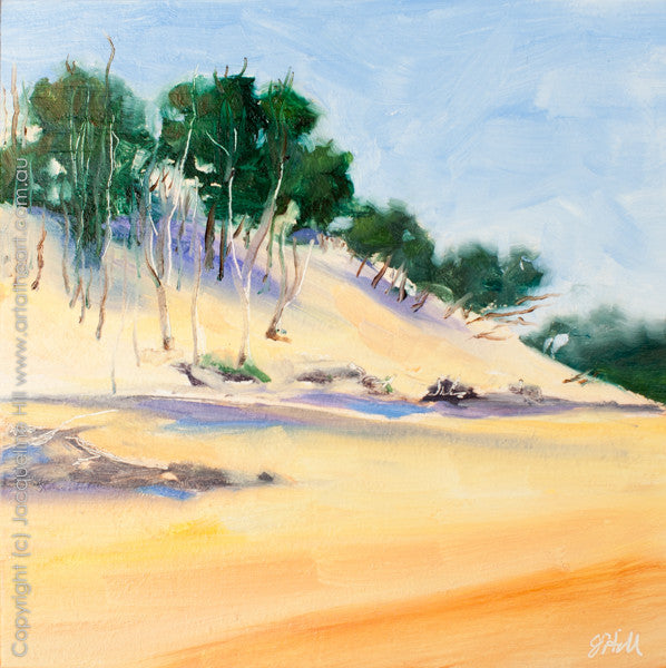 "DP038 ""Wind-Swept Dune"" Original Oil on Panel Painting by Jacqueline Hill"