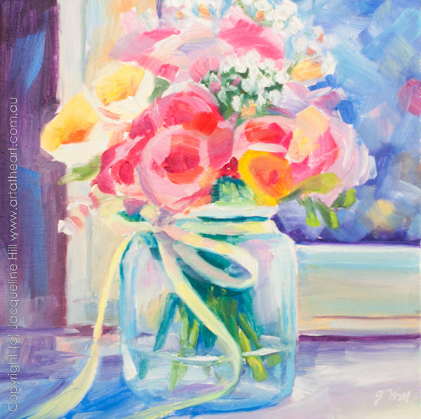 "DP066 ""A Jar of Joy"" Original Oil on Panel Painting by Jacqueline Hill"