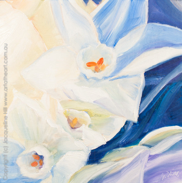 "DP073 ""Narcissus"" Original Oil on Panel Painting by Jacqueline Hill"