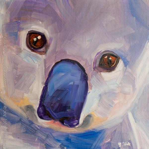 "DP113 ""Koala"" Original Oil on Panel Painting by Jacqueline Hill"