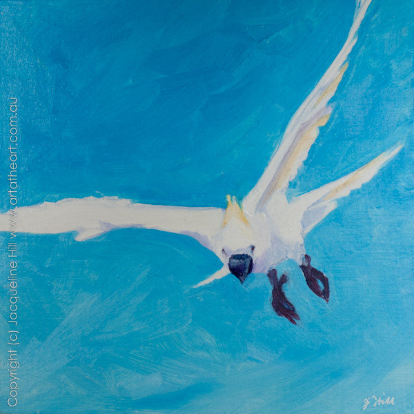 "DP132 ""Incoming I"" Original Oil on Panel Painting by Jacqueline Hill"