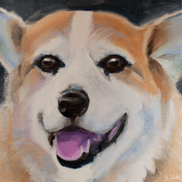 "DP142 ""Bobby"" Original Oil on Panel Painting by Jacqueline Hill"