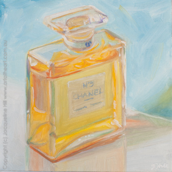 "DP169 ""Eau de Parfum"" Original Oil on Panel Painting by Jacqueline Hill"