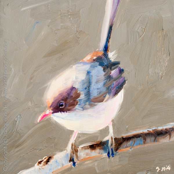 "DP176 ""Wren III"" Original Oil on Panel Painting by Jacqueline Hill"