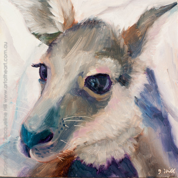 "DP183 ""Wallaroo"" Original Oil on Panel Painting by Jacqueline Hill"