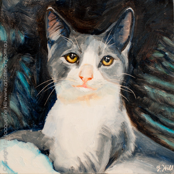 "DP186 ""New Royalty"" (Casper) Original Oil on Panel Painting by Jacqueline Hill"