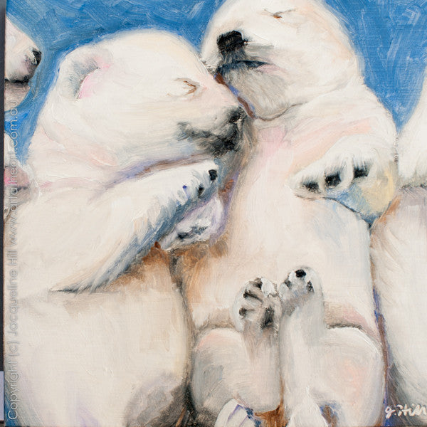 "DP193 ""Westie Babies"" Original Oil on Panel Painting by Jacqueline Hill"