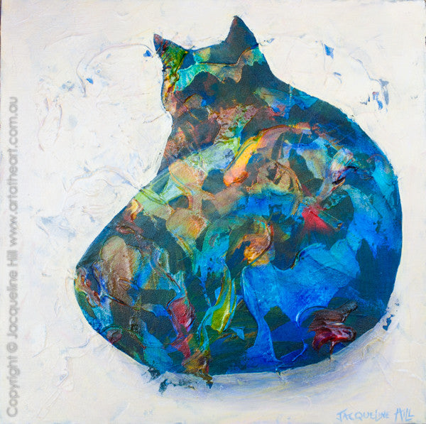 """Cat Ia"" Original Acrylic Painting by Jacqueline Hill [OR061]"