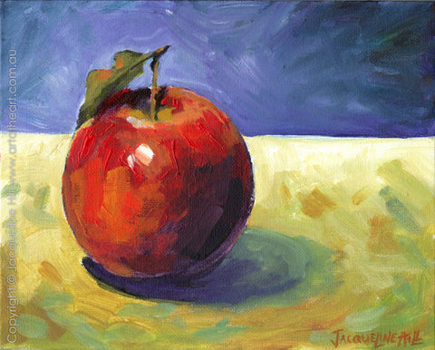 """Apple I"" Original Oil Painting by Jacqueline Hill [OR033]"