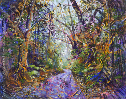 """Emerald Forest"" by Jacqueline Hill, Limited Edition Fine Art Reproduction"