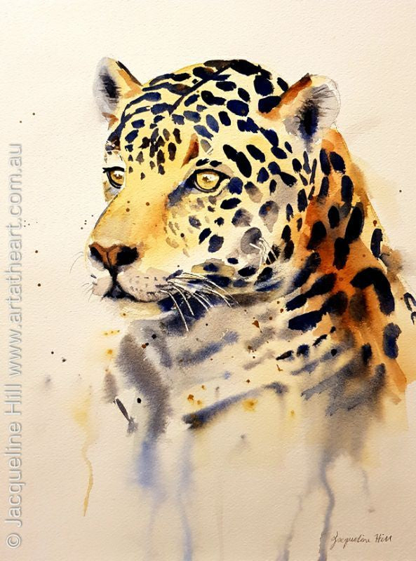 "DA127 ""Jaguar"" Original Watercolour Paintingby Jacqueline Hill"