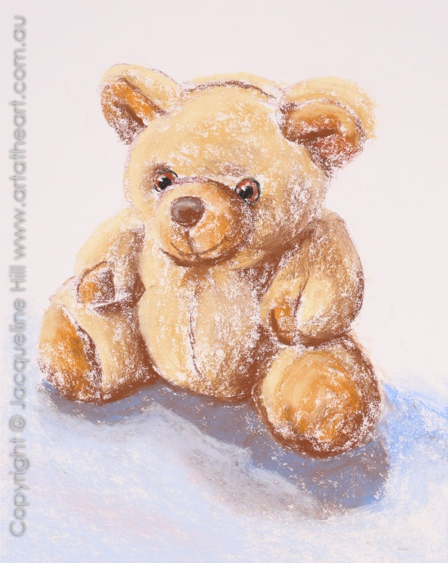 "DA312 ""Honey Bear"" Original Pastel Painting by Jacqueline Hill"