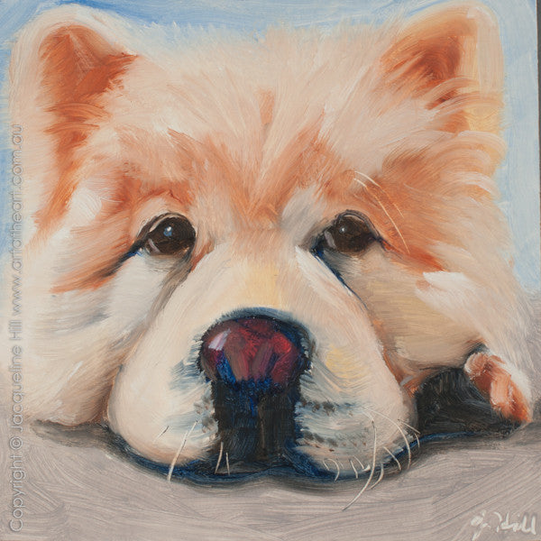 "DP269 ""Buddy II"" Original Oil on Panel Painting by Jacqueline Hill"