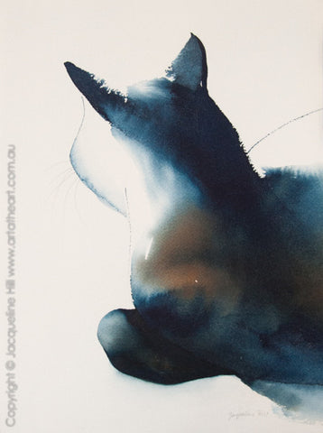 """Cat XXXV"" Original Watercolour Painting by Jacqueline Hill [OR064]"