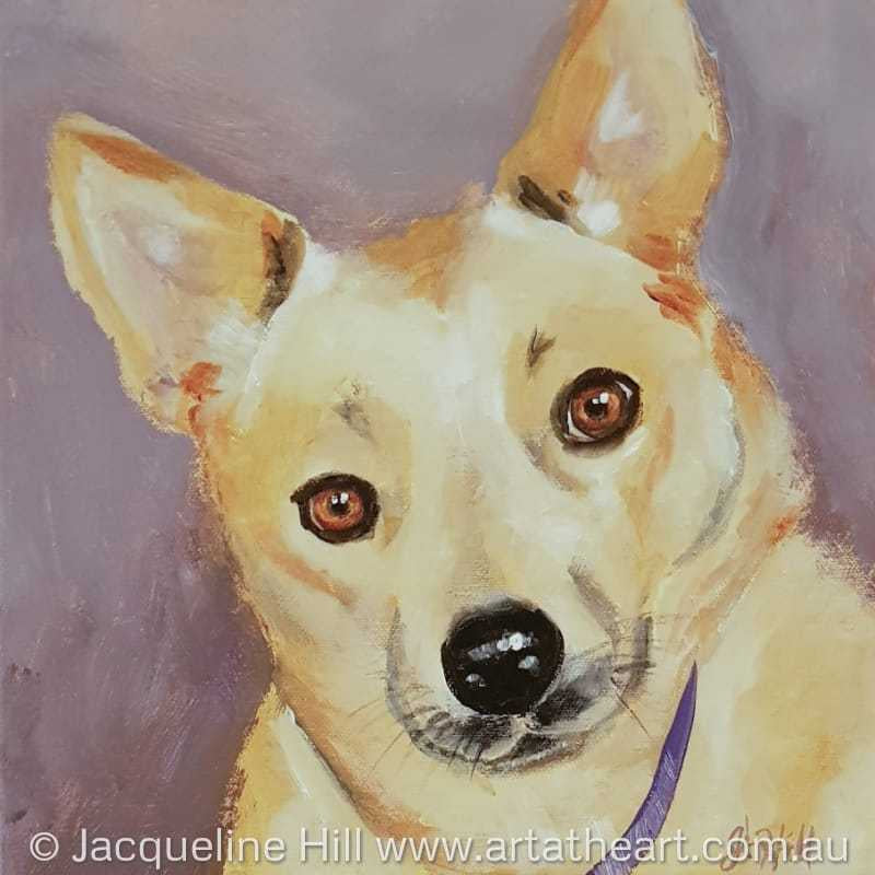 "DA205 ""Sandy"" Original Acrylic Painting apx 12x10"" / 30x24cm by Jacqueline Hill"