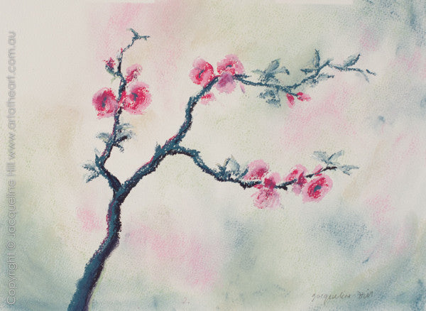 """Cherry Blossom I"" Original Pastel by Jacqueline Hill [OR321]"