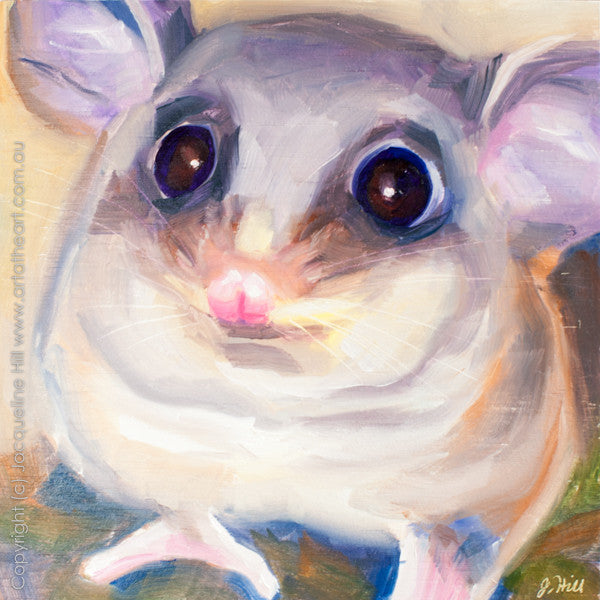 "DP089 ""Mountain Pygmy Possum"" Original Oil on Panel Painting by Jacqueline Hill"
