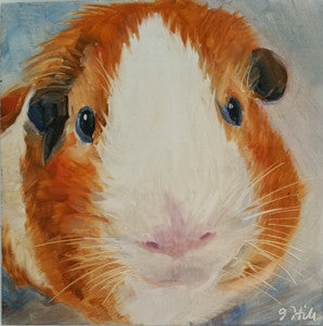 "DPE012 ""Nugget"" Original Oil on Panel Painting by Jacqueline Hill"