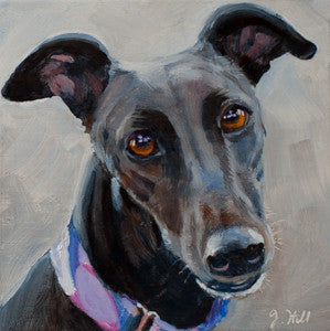 "DPE016 ""Sally"" Original Oil on Panel Painting by Jacqueline Hill"