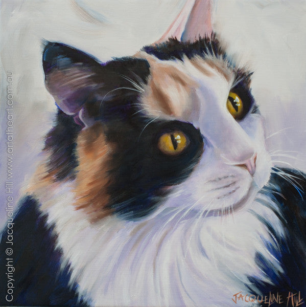 """Calai"" Original Oil on Linen 18"" Painting by Jacqueline Hill [OR303]"