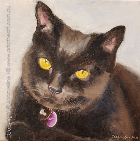 """Portrait of Hermione"" Original Oil Painting by Jacqueline Hill [OR382]"