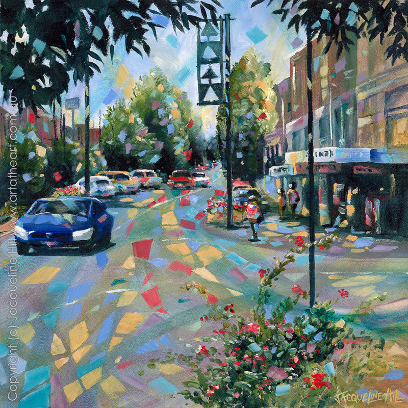 """Town Avenue"" by Jacqueline Hill, Limited Edition Fine Art Reproduction"