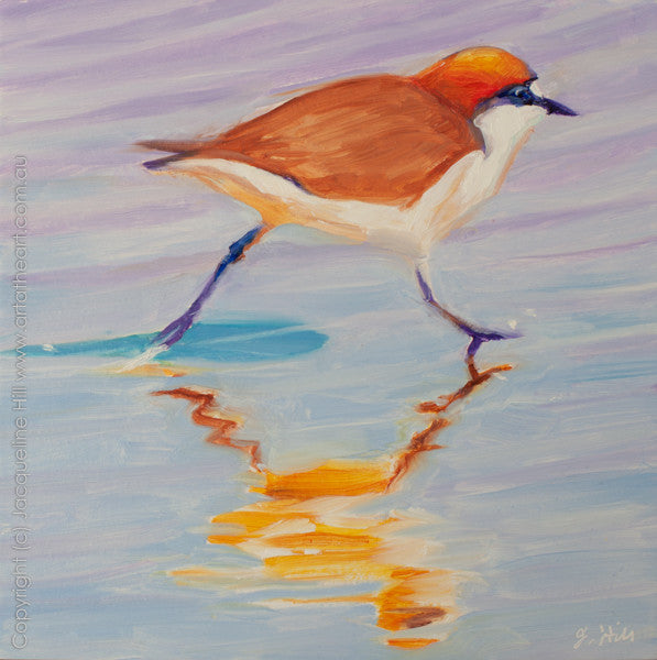 "DP057 ""Dotterel IIo"" Original Oil on Canvas Panel Painting by Jacqueline Hill"
