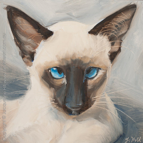 "DP287 ""Otis III"" Framed Original Oil on Panel Painting by Jacqueline Hill"