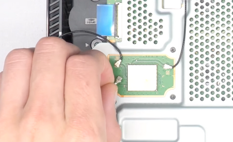 Removing the cables from the motherboard