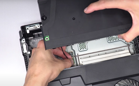 Inserting the new wire into the motherboard