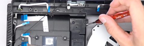 Replacing the screws into the new drive