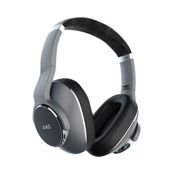 AKG N700NC Wireless Noise Canceling On-Ear Headphones (Gray) - Refurbished
