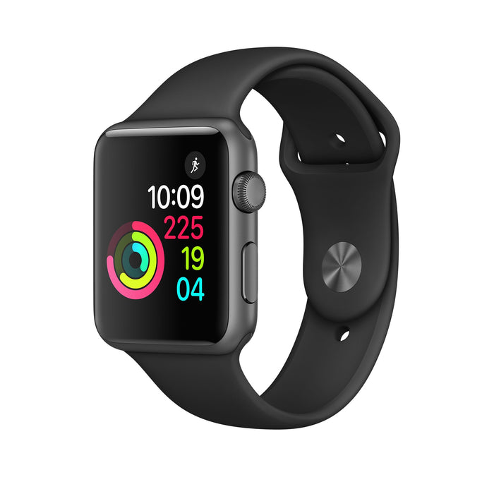 Apple Watch Smartwatch 1st Generation 42MM Space Gray Black Sport Band [Refurbished]