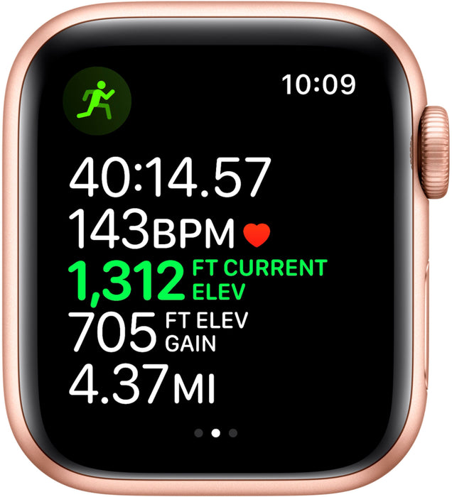 Apple Watch Series 5 GPS 40mm Aluminum Case with Pink Sport Band (Gold) - Refurbished