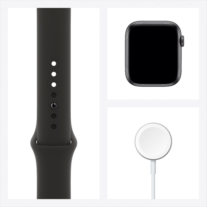 Apple Watch Series 6 GPS + Cellular 44mm Aluminum Case Black Sport Band (Space Gray) - Refurbished