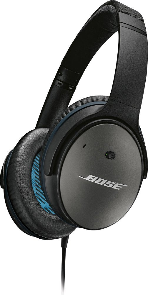 Bose QuietComfort 25 QC 25 Wireless Noise Cancelling Headphones (Black) - Refurbished